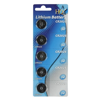 CR2025 Lithium battery 3V 150 mAh 5-blister