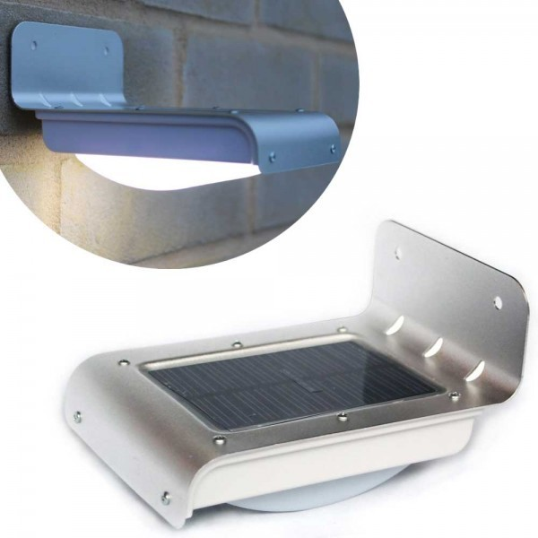 Solar LED outdoor light with motion sensor