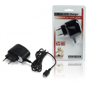 Phone charger with micro USB plug