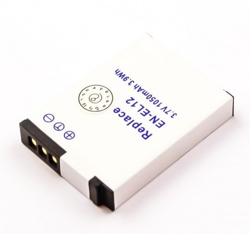 Nikon EN-EL12, ENEL12 1000mAh Li-ion camera battery